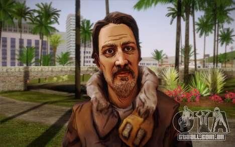 William Carver из The Walking Dead para GTA San Andreas terceira tela