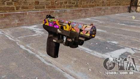 Arma FN Cinco sete LAM Graffitti para GTA 4