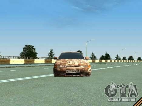 VAZ 2110 camuflagem para GTA San Andreas vista traseira
