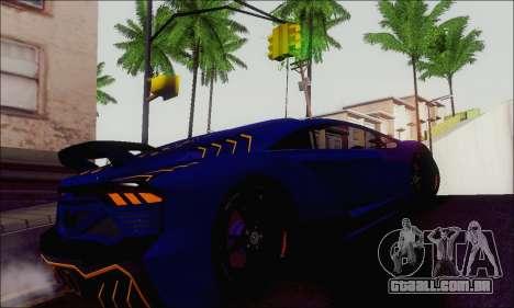 Zentorno GTA 5 V.1 para GTA San Andreas vista traseira