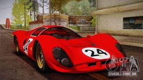 Ferrari 330 P4 1967 IVF para as rodas de GTA San Andreas