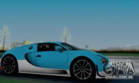 Bugatti Veyron Super Sport 2011 para GTA San Andreas vista inferior