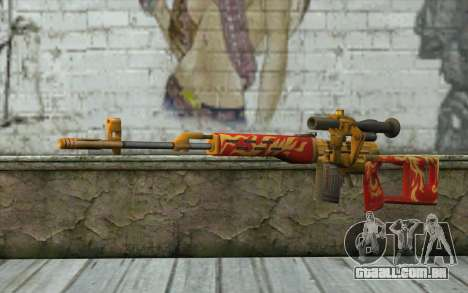 A Dragunov Sniper Rifle (Point Blank) para GTA San Andreas