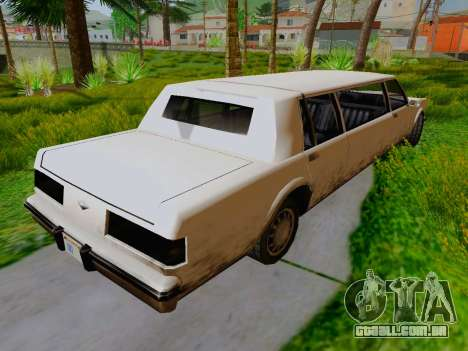 Greenwood Limousine para GTA San Andreas traseira esquerda vista