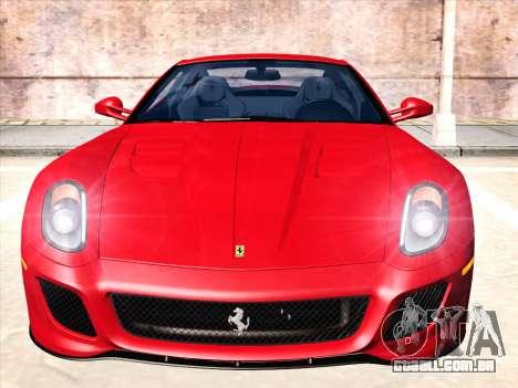 Ferrari 599 GTO para GTA San Andreas esquerda vista