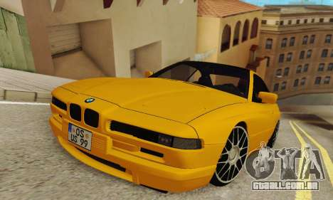 BMW 850CSI 1996 para GTA San Andreas traseira esquerda vista