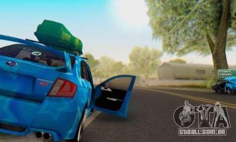 Subaru Impreza Blue Star para GTA San Andreas vista inferior