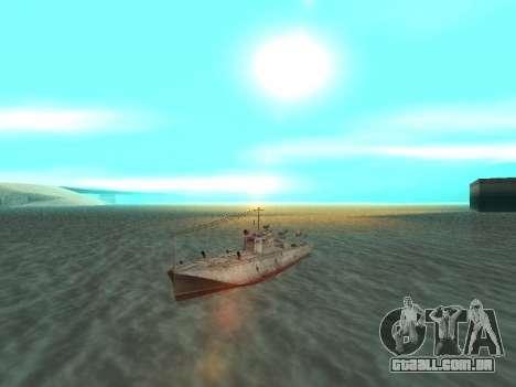 Torpedeiros do tipo G-5 para GTA San Andreas vista direita
