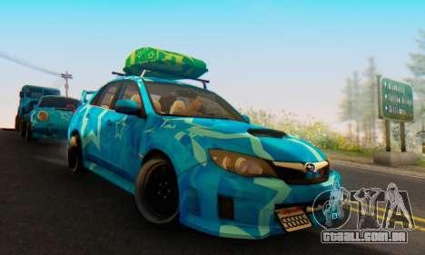 Subaru Impreza Blue Star para GTA San Andreas