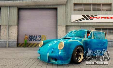 Porsche 911 Blue Star para GTA San Andreas vista interior