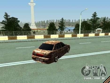 VAZ 2110 camuflagem para GTA San Andreas vista direita