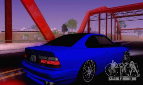 BMW 850CSI 1996 para GTA San Andreas vista inferior