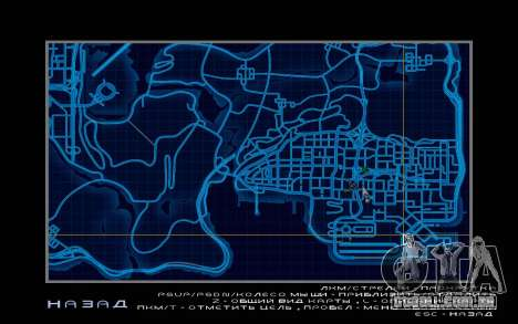 Mapa estilo de need For Speed World para GTA San Andreas terceira tela