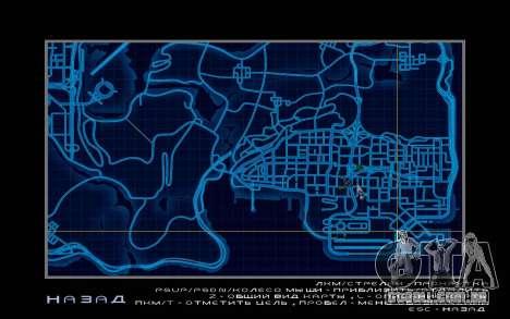 Mapa estilo de need For Speed World para GTA San Andreas terceira tela