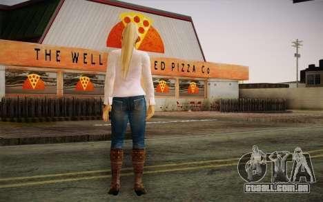 Sarah from DoA para GTA San Andreas segunda tela