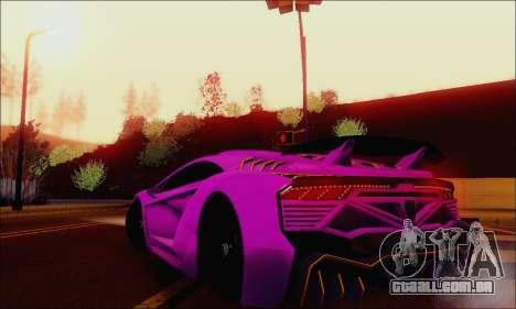 Zentorno GTA 5 V.1 para o motor de GTA San Andreas