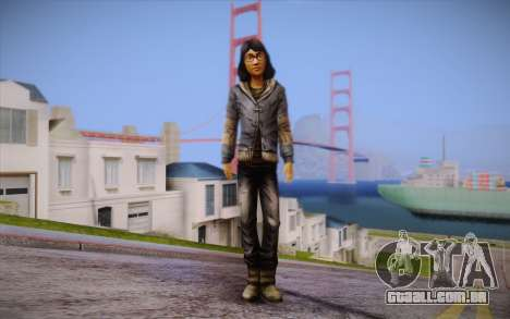 Sarah из The Walking Dead para GTA San Andreas