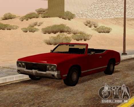 Sabre Conversível para GTA San Andreas