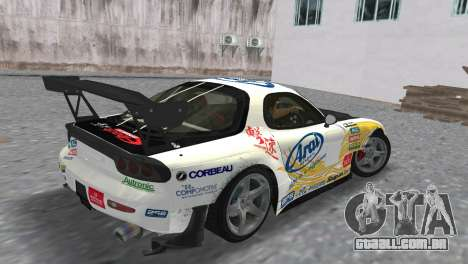 Mazda RX7 FD3S RE Amamiya Arial para GTA Vice City deixou vista