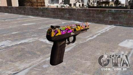 Arma FN Cinco sete Graffitti para GTA 4 segundo screenshot