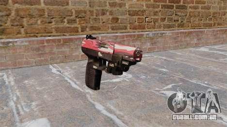 Arma FN Cinco sete LAM Vermelho urbana para GTA 4