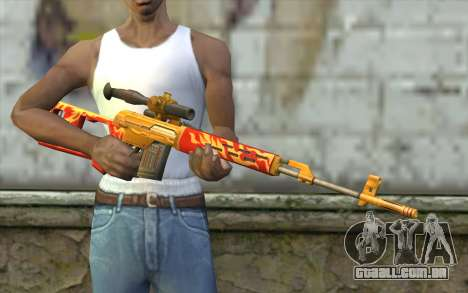 A Dragunov Sniper Rifle (Point Blank) para GTA San Andreas terceira tela
