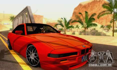 BMW 850CSI 1996 para GTA San Andreas vista interior