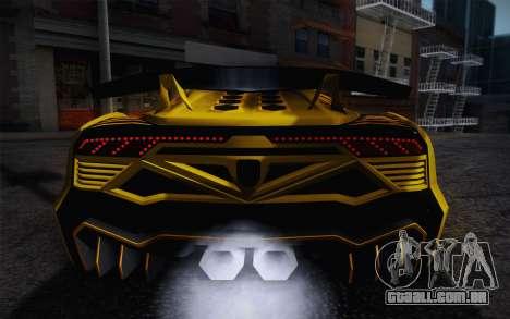 Zentorno из GTA 5 para GTA San Andreas interior