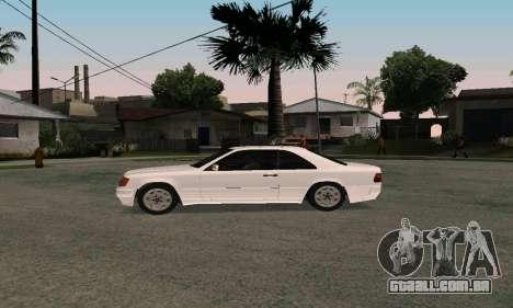 Mercedes-Benz W124 Coupe para GTA San Andreas vista direita