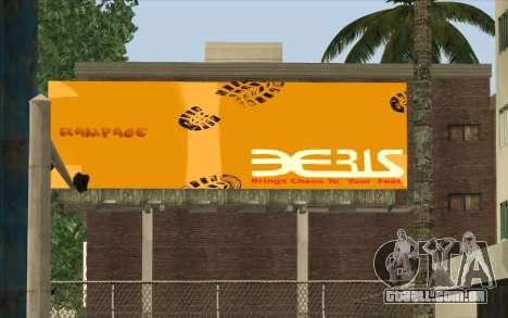 HQ Billiboards para GTA San Andreas por diante tela