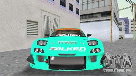 Mazda RX7 FD3S RE Amamiya Falken para GTA Vice City vista traseira