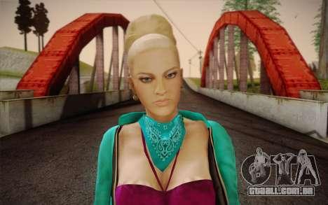 Menina bonita para GTA San Andreas terceira tela