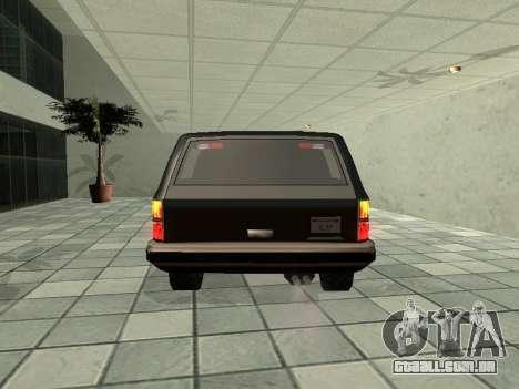 SWAT Original Cruiser para GTA San Andreas vista direita