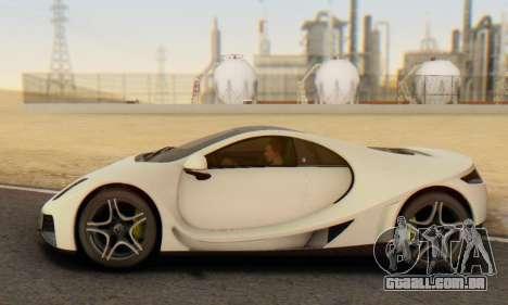 GTA Spano 2014 IVF para GTA San Andreas vista interior