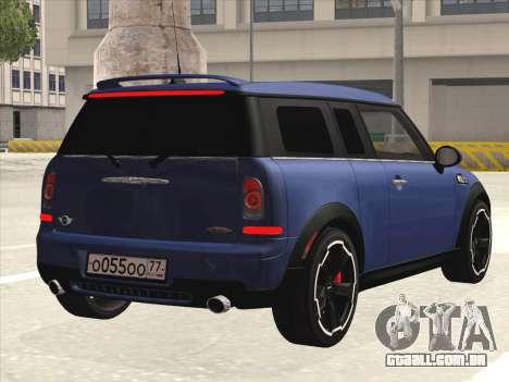 Mini Cooper Clubman JCW para GTA San Andreas vista direita