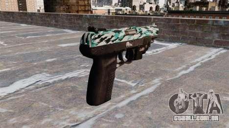 Arma FN Cinco sete LAM Aqua Camo para GTA 4 segundo screenshot