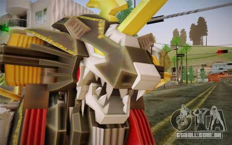 Energy Liger from Zoids para GTA San Andreas terceira tela