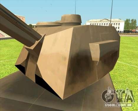 Rhino tp.RVNG-AM cal.155 para GTA San Andreas traseira esquerda vista