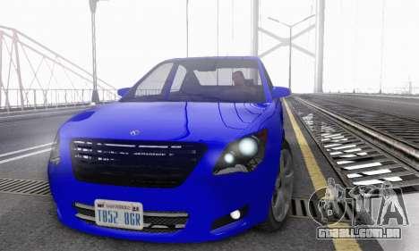 Karin Asterope V1.0 para GTA San Andreas vista traseira