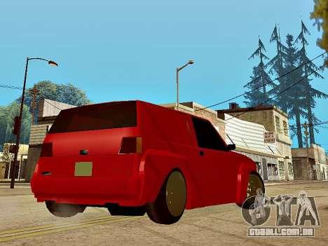 Club Sport para GTA San Andreas esquerda vista