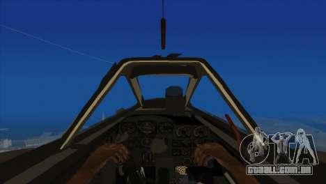 Messerschmitt Me.262 Schwalbe para GTA San Andreas vista traseira