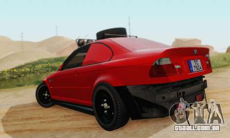 BMW M3 E46 Offroad Version para GTA San Andreas vista direita