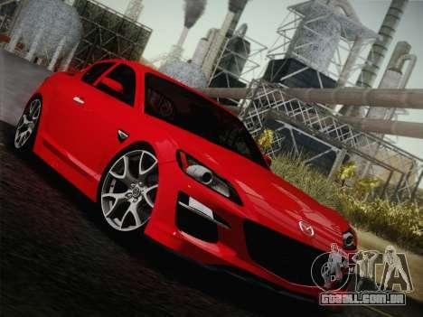 Mazda RX-8 Spirit R 2012 para vista lateral GTA San Andreas