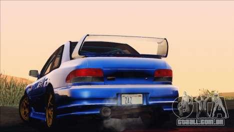 Subaru Impreza 22B STi 1998 para GTA San Andreas vista interior
