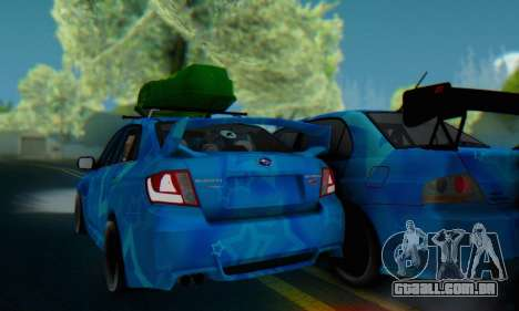 Subaru Impreza Blue Star para GTA San Andreas vista traseira
