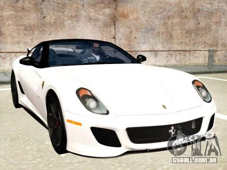 Ferrari 599 GTO para GTA San Andreas interior