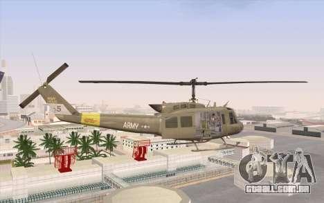 UH-1 Huey para GTA San Andreas esquerda vista