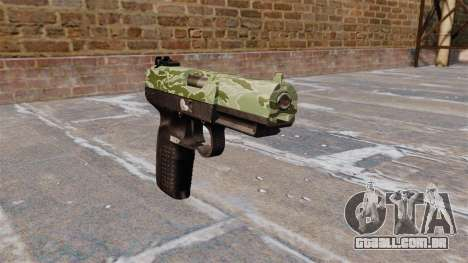Arma FN Cinco sete Verde Camo para GTA 4