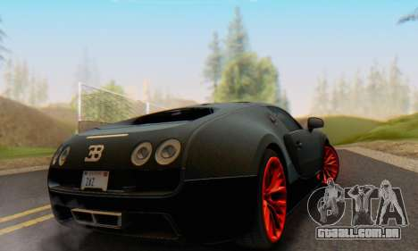 Bugatti Veyron Super Sport 2011 para GTA San Andreas vista direita
