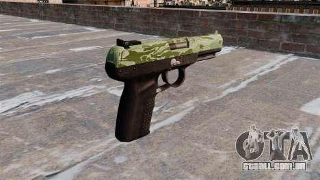 Arma FN Cinco sete Verde Camo para GTA 4 segundo screenshot